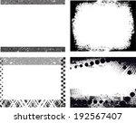 set of grunge frames   Shutterstock .eps vector #192567407