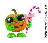 3d render of a pumpkin head... | Shutterstock . vector #192568145