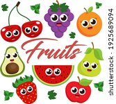 set of fruits  symbol of summer.... | Shutterstock .eps vector #1925689094