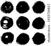 set of vector circle brush...