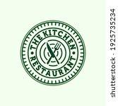 premium restaurant or cafe line ... | Shutterstock .eps vector #1925735234