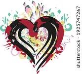 grunge heart symbol on the... | Shutterstock .eps vector #1925747267