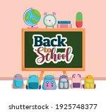 back to school blackboard map... | Shutterstock .eps vector #1925748377
