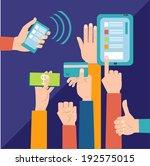 businessman's hands holding... | Shutterstock .eps vector #192575015