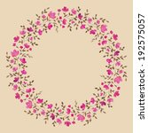 painted watercolor wreath of... | Shutterstock . vector #192575057