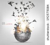 origami paper bird.vector...   Shutterstock .eps vector #192575084