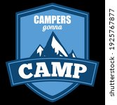 campers gonna camp funny quote   Shutterstock .eps vector #1925767877