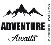 adventure awits best funny quote   Shutterstock .eps vector #1925767901