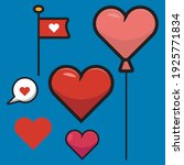 asset design love symbol ... | Shutterstock .eps vector #1925771834