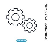 gear setting icon. statistics ...   Shutterstock .eps vector #1925777387