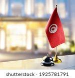 tunisia flag on the reception... | Shutterstock . vector #1925781791