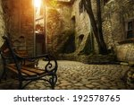 Patio In The Old Town Of...