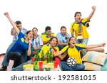 world cup  group of friends... | Shutterstock . vector #192581015