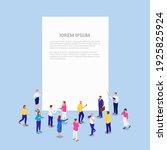 crowd people business... | Shutterstock .eps vector #1925825924
