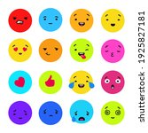 colored emotions collection.... | Shutterstock .eps vector #1925827181