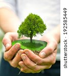 green planet in your heart... | Shutterstock . vector #192585449