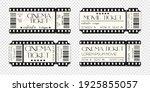 cinema ticket template mockup...   Shutterstock .eps vector #1925855057