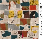 Seamless Patchwork Collage Mix...