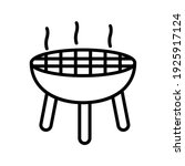 grill icon on white background. ...