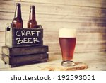 cold craft beer  | Shutterstock . vector #192593051