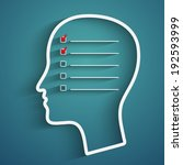 a creative concept of human... | Shutterstock .eps vector #192593999