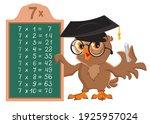 multiplication table 7 math...   Shutterstock .eps vector #1925957024