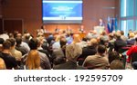 Small photo of Business Conference and Presentation. Audience at the conference hall.