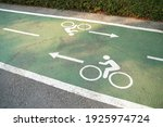 Bike Lane Signs Painted Onto A...