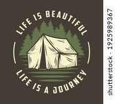 camp tent for camping t shirt...   Shutterstock .eps vector #1925989367