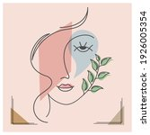 portrait of an abstract woman ... | Shutterstock .eps vector #1926005354