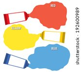 squeezed primary color tubes  | Shutterstock .eps vector #192600989