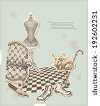 room interior. collage | Shutterstock .eps vector #192602231