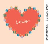 gift box with hearts postcard ... | Shutterstock .eps vector #1926031904