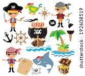 vector pirate boy illustration | Shutterstock .eps vector #192608519