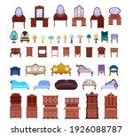 set of cute antique nightstands ...   Shutterstock .eps vector #1926088787