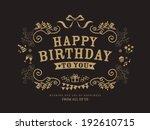 birthday card design vintage... | Shutterstock .eps vector #192610715
