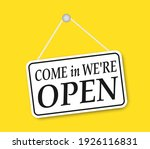 shop sign  come in we are open  ... | Shutterstock .eps vector #1926116831