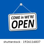 shop sign  come in we are open  ... | Shutterstock .eps vector #1926116837