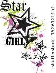 star girl style for t shirt...   Shutterstock .eps vector #1926121151