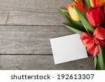 Fresh Colorful Tulips With...