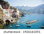 Italy Amalfi Coast In Sunshine  ...