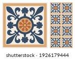 set of patterned azulejo floor... | Shutterstock .eps vector #1926179444