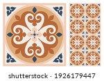 set of patterned azulejo floor... | Shutterstock .eps vector #1926179447