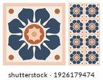 set of patterned azulejo floor... | Shutterstock .eps vector #1926179474