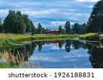 A Peaceful Summer Lake View Of...