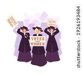 Three Suffragettes In A Coat...