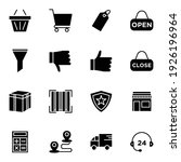 e commerce icon set solid style ...