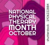 national physical therapy month.... | Shutterstock .eps vector #1926222884