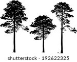 illustration with pine... | Shutterstock .eps vector #192622325