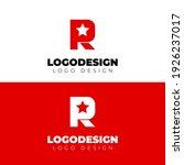 r and star logo design minimal... | Shutterstock .eps vector #1926237017